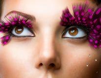 falskt mode för ögonfranser Arkivfoto