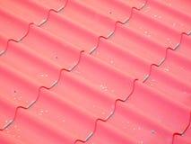 Falskt tak av röda tegelplattor Fotografering för Bildbyråer
