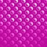 Falso taoísmo púrpura rosado de Yin Yang Metallic Tao Balance Chinese de la hoja Foto de archivo libre de regalías