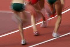 Falta de definición 03 de los corredores Imagen de archivo libre de regalías