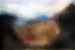 Falta de definición abstracta colorida de la acuarela Imagen de archivo libre de regalías