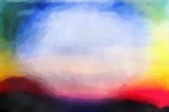 Falta de definición abstracta colorida de la acuarela Fotos de archivo libres de regalías