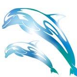Falta de definición abstracta del delfín stock de ilustración