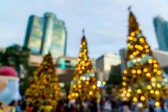 falta de definición abstracta e iluminación defocused en el árbol de navidad en Cristo Fotos de archivo libres de regalías