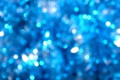 Falta de definición azul de la luz del resplandor Foto de archivo libre de regalías