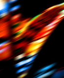 Falta de definición brillante de las luces del color Imagen de archivo