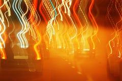 Falta de definición de coches y de semáforos Foto de archivo