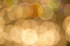 Falta de definición de Bokeh del oro amarillo Foto de archivo libre de regalías