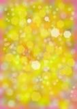 Falta de definición de Bokeh, falta de definición amarilla del fondo Imagenes de archivo