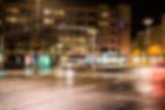 Falta de definición de la noche de la ciudad imagen de archivo