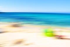 Falta de definición de la playa Fotos de archivo libres de regalías
