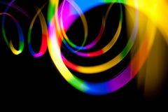 Falta de definición de los rastros de la luz de Abtract Imagenes de archivo