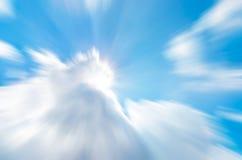 Falta de definición de movimiento abstracta de la nube imagenes de archivo