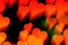Falta de definición de movimiento abstracta de los corazones Imagen de archivo libre de regalías