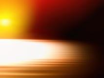 Falta de definición de movimiento anaranjada diagonal con el fondo ligero del escape Imagenes de archivo
