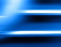 Falta de definición de movimiento azul horizontal con el fondo ligero del escape Imagen de archivo