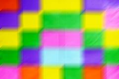Falta de definición de movimiento coloreada vibrante de los cubos Foto de archivo libre de regalías