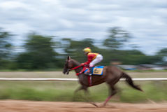 Falta de definición de movimiento de la carrera de caballos fotografía de archivo