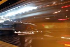 Falta de definición de movimiento de la noche Fotos de archivo libres de regalías