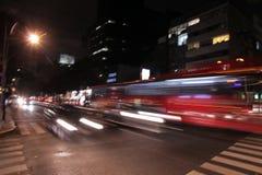 Falta de definición de movimiento de la noche Fotos de archivo