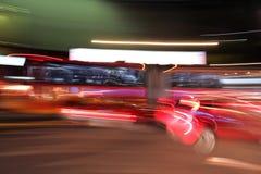 Falta de definición de movimiento de la noche Imágenes de archivo libres de regalías