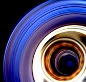 Falta de definición de movimiento de la rueda del carro Imagen de archivo
