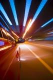 Falta de definición de movimiento del coche Foto de archivo