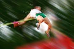 Falta de definición de movimiento del salto de altura Fotos de archivo libres de regalías