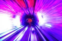 Falta de definición de movimiento del túnel Foto de archivo libre de regalías