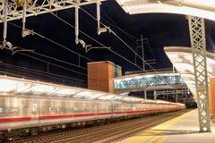 Falta de definición de movimiento del tren del metro Imagen de archivo libre de regalías