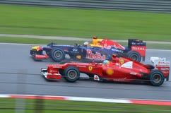 Falta de definición de movimiento F1 Imagen de archivo libre de regalías
