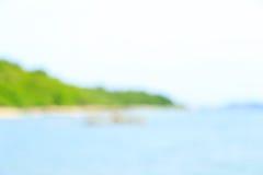 Falta de definición del cabo, de la playa y del mar, Tailandia Imagenes de archivo