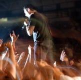 Falta de definición del concierto de rock Foto de archivo libre de regalías