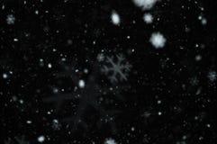 Falta de definición del extracto de los copos de nieve Imagenes de archivo