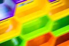 Falta de definición del extracto del movimiento del hexágono geométrica