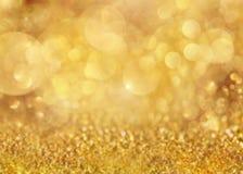 Falta de definición del fondo del oro Papel pintado del día de fiesta Foto de archivo libre de regalías