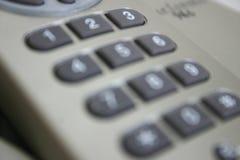 Falta de definición del telclado numérico del teléfono Fotografía de archivo