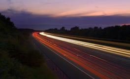 Falta de definición del tráfico M6 Foto de archivo