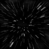 Falta de definición del zoom de Hyperspace stock de ilustración