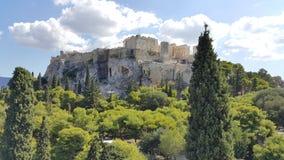 Falta de definición de Grecia de la acrópolis Foto de archivo