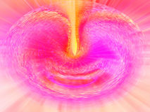 Falta de definición mágica rosada Foto de archivo