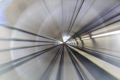 Falta de definición de movimiento del túnel foto de archivo