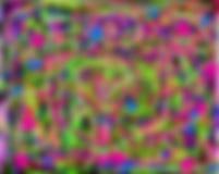 Falta de definición multicolora abstracta Imagen de archivo