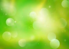 Falta de definición verde abstracta del fondo Fotografía de archivo