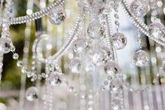 Falta de definición y Defocus Crystal Chandelier Shiny Glitter foto de archivo libre de regalías