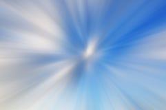 Falta de definición de movimiento azul y blanca del extracto del fondo Imagen de archivo libre de regalías
