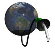 Falta do petróleo da terra ilustração royalty free