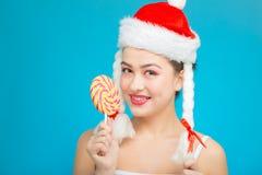 Falta santa de la diversión con el caramelo imágenes de archivo libres de regalías
