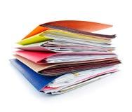 Faltblätter mit Dokumenten Lizenzfreie Stockbilder