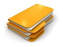 Faltblätter und Dateien Stockfotos